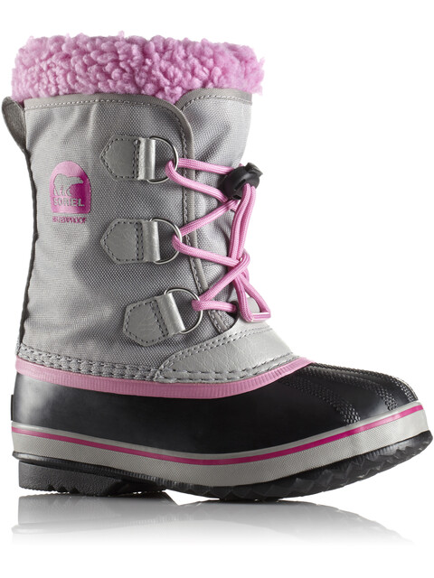 Sorel Kids Yoot Pack Nylon Boots Chrome Grey/Orchid